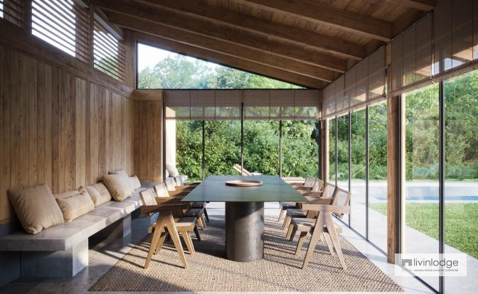 Eichen Poolhaus mit modernem Touch, Meulebeke