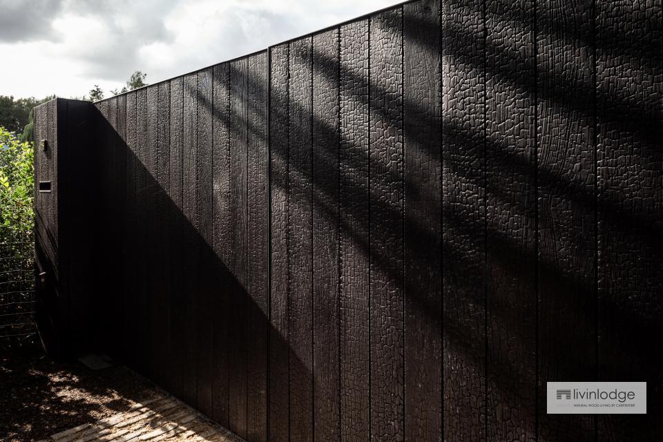 Modernes Hoftor aus Seidenholz Sint-Martens-Latem