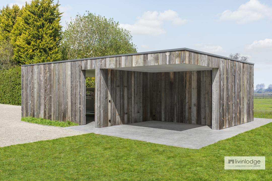 Modernes Holz Carport Livinlodge