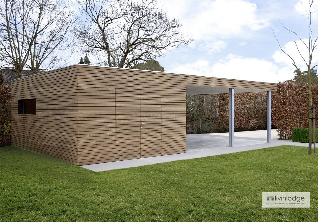 Modernes Holz Carport